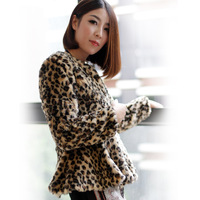 Lowest price!!! Free Shipping 2014 New Fashion Women's Rabbit O-neck Coat Fur Collar Coat for Ladies Red color