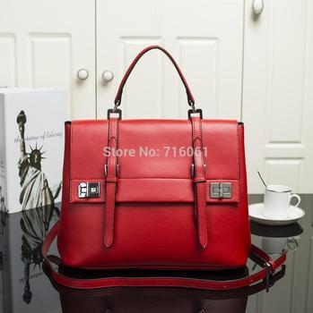 2014 Новый стиль известный бренд женщин кожаные сумки Prado подлинной сумки Высокое качество натуральная кожа женщины сумка почтальона сумочки