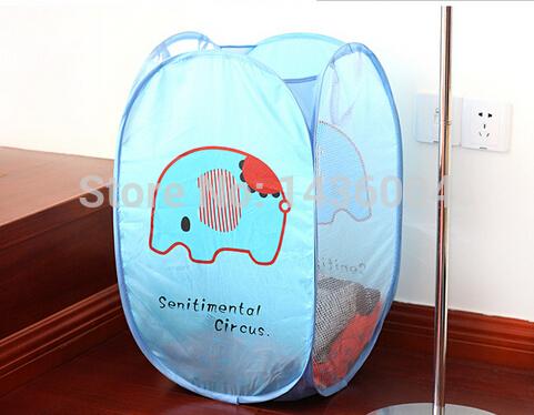 Cute cartoon convenience Foldable Laundry Basket / Storage / Bag Foldable Laundry Toys Basket Tidy Clothes Socks Storage 1pcs(China (Mainland))