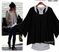 Euro Fashion Loose Casual Short Sleeve T-Shirts Women's Batwing Sleeve Tops ( Tank + T shirt) 274
