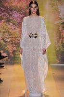 Zuhair Murad Newest A-Line Sexy Jewel Collar Long Sleeves Lace Elegant Evening Dress Formal Gowns vestido de renda longo