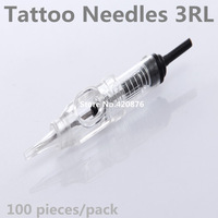 100pcs/lot 3RL Sterilized Disposable Tattoo Machine Needles Permanent Makeup Needles Nouveau Contour Style Free Shipping