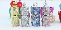 Personality hang pendant crystal jewelry usb flash drive 32g 64g lover couple gift High-grade refined girl pen drive
