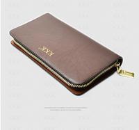 new 2014 brand genuine leather men's wallet clutch money bags for men black coffee purse