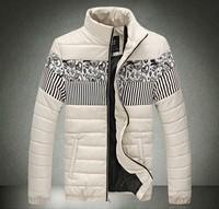Winter mans jackets Men's fashion Leather cotton spell color coat Men's clothes Plus-size Trend Free shipping New 2014 L-3XL