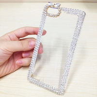 Clear Diamond Bling bow back Case For For for Huawei Ascend G6 Shiny Free Shipping
