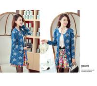 Women Cute Kartoon Printing Long Sleeve Sweater Cardigan Coat Free Shipping fz26332632