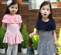 100% Cotton 2015 new Summer baby Girls Dress cute Shawl flower Princess dress child dress 3-8 years casual kid's dress C069