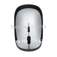 NEW 2.4GHz Ultra-Slim Mini USB Wireless Optical Mouse Silver For PC Laptop 100% Brand New