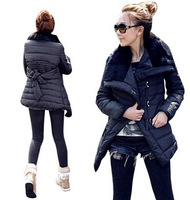 2014 wonderful try autumn and winter waist high code Lapel coat jacket aliexpress sellers