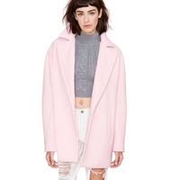 BF wind profile loose wool Nechang jacket retro dropped shoulder sleeve large lapel coat haoduoyi