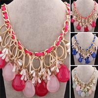 New Fashion Jewelry Brand Trendy Jewellery Dress Party Prom Bijoux Women Bib Statement Choker Necklaces VFN135