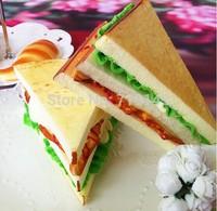 Artificial PU fake cream sandwich bread food  Kitchen restaurant decorated DIY wedding festival props toy