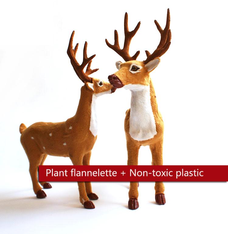35cm christmas deer noel natal doll flock cloth christmas family decoration toy Santa Claus Jr ornaments natal sika Noel noel(China (Mainland))