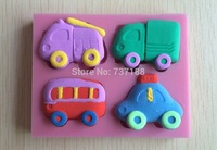 Lovely  Bus and  Truck and Taxi  Shape Fondant Cake Molds Tools Decorating cooking  tools-C381