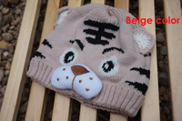 Children tiger hat cartoon baby crochet beanie infant knitted linecaps toddler cap Kids children caps 10pcs lot M20