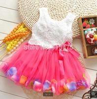 New Arrival Summer Children's dress baby flower dress kids wear girls Princess dress kids clothing Dresses 4pcs/lot