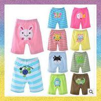 [Baby shorts] free shipping 5pcs/lot B1004 Summer cotton baby animals PP pants embroidered outdoor baby cartoon shorts