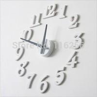 Stylish Simple DIY 3D Wall Clock DIY clock Funny Clock Digital wall clock Wholesale / Retail F176
