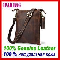 Rushed Bolsa Bolso Handbag 2015 New Arrival Men's Bag High Quality Genuine Leather Shoulder Messenger Tablet for Men Dark