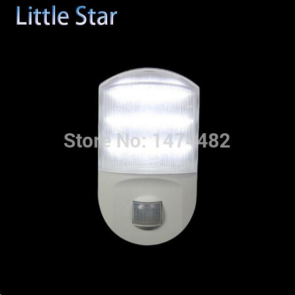 Christmas Indoor Light 8pcs novelty night lamp PIR Auto Sensor Motion Detector LED Night light Infrared 9 LEDs lamp Nightlight(China (Mainland))