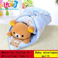 2014 Hot Flannel Newborn Kids Baby Blanket Toddler Cartoon rabbit Sleeping Bag Autumn And Winter