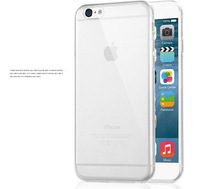 Wholesale 100pcs DHL Ship Ultra Thin Mobile Case for iPhone 6 4.7 Crystal Transparent Plastic Soft Cover for iPhone6 Plus 5.5