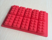 Free shipping Lego type Muffin Sweet Candy Jelly fondant Cake chocolate  Mold Silicone tool Baking Pan- B182