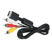 10pcs NEW 6 feet 1.8M Audio Video AV Cable to RCA For PlayStation for PS / for PS2 / for PS3 Free / Drop Shipping