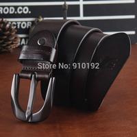 lead layer of pure leather belt men's jeans Korean buckle belts