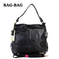 Factory outlets New HOBO Women Genuine Leather handbag Fashion First layer leather Crossbody bag for girl/ladies black B318