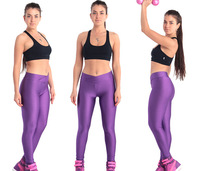 The new candy-colored leggings nine points fluorescence was thin V-waist pants size yards fashion manufacturers