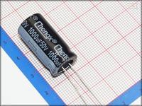 100Pcs 13mm*25mm 1000uF 50V Through Hole Alumilum Electrolytic Capacitor