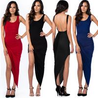 2014 New Women Bandage Dress  Sexy Clubwear Bodycon Bandage Dress Party Vestidos Twisted Thoughts Asymmetrical Dresses