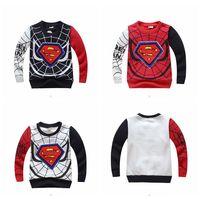 New autumn and winter velvet Children's T-shirt boy long sleeves T-shirts Children's Clothing  spider-man cartoon t-shirt 2014