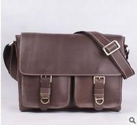 New men's leather shoulder bag Messenger header layer crazy horse leather hand bag cross bag casual vintage