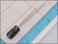 100Pcs 4mm*7mm 1uF 50V Through Hole Alumilum Electrolytic Capacitor