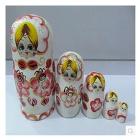 paint Angel doll matryoshka MINI Wooden Russian dolls 5 layer Children's toys Home decoration The wedding gift Free shipping