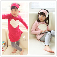 New arrival girls clothing sets 3Pcs/Set( headband + shirt + pants ) children girls casual clothes long-sleeved Kids suits wear