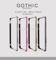 Original Nillkin Border Series Gothic Phone Border , Elegant Arc Metal Bumper For For Apple iPhone 6 4.7 inch ,DHL Free shipping