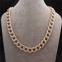 New Fashion Jewelry Brand Luxury Vogue Jewellery Exaggerated Big Chain Women Statement Necklace VFN144