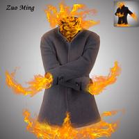 [Original design ] Autumn men's clothes Thick fur collar lapel man youth cashmere single breasted clothes 2 Color Size: M - XXXL