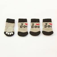 Armi store 81002 I Love Dog Logo Dog Sock Latex Skid-Proof Socks For Dogs Wholesale Free Shipping S, M, L size