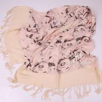 Scarves Monroe Double Tassel Thick Scarf Manufacturers Selling Chiffon Cotton Twill Chaddar Warm Shawl Scarf
