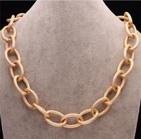 New Fashion Jewelry Brand Luxury Vogue Jewellery Exaggerated Big Chain Women Statement Necklace