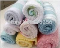High quality Hot 100% cotton baby's towels baby bib infant feeding towel santa washcloth 8pcs/bag ZF023