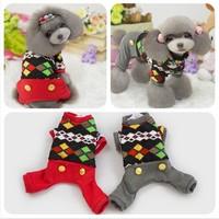Wholesale Dog Pet Winter Clothes Jumpsuit Super Soft Cotton Padded Coat for Dogs Clothes Pet Product 1pcs/lot