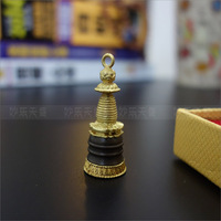 Copper turning round a pendant.Tibet Mini Stupa, indicate that it can obtain peace and wish to achieve