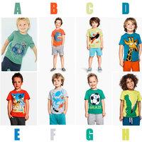 wholesale 6set/lot boy's clothes short sleeve t-shirt pants summer 2pcs set baby clothes ,tshirt pants kids clothes