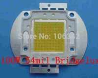 54mil 100W high Power LED Bridgelux Chip 10*10 10000-12000lm 30-36V 3000-3500mA 5pcs/lot
